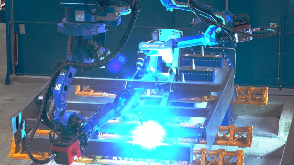 a Delfoi welding robot
