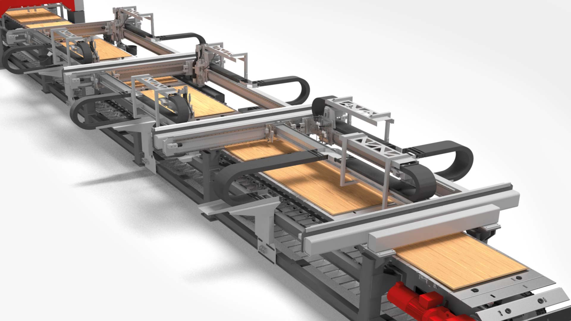 a plywood manufacturing line