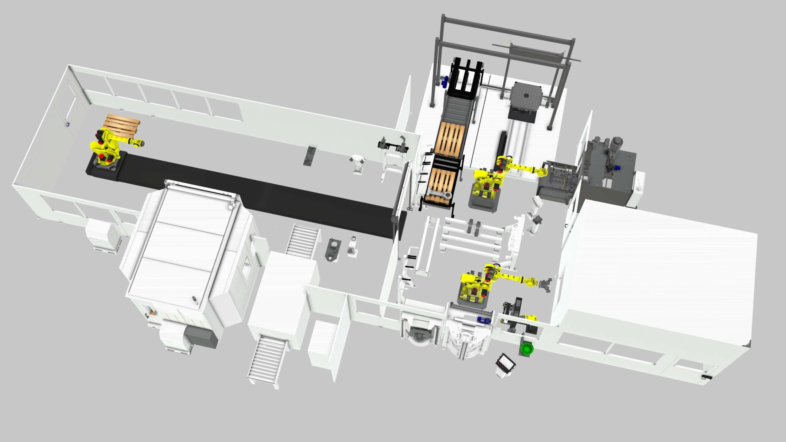 a rendering of a manufacturing line