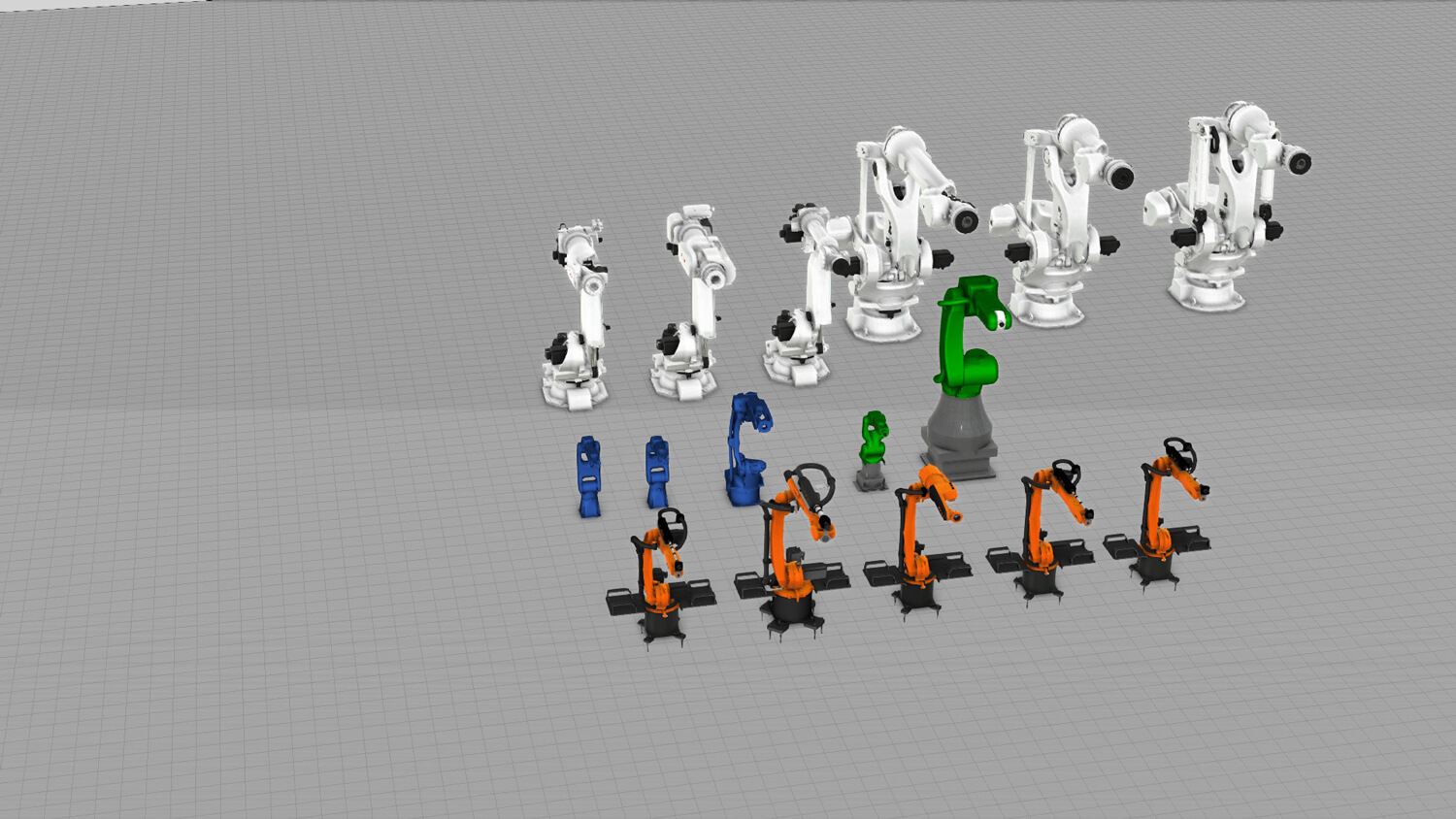 some of the new robot additions to eCatalog