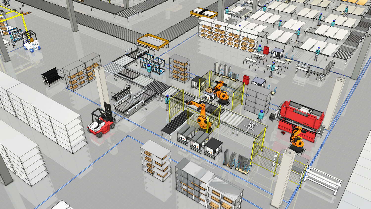 Assembly line with April 2018 eCatalog component updates