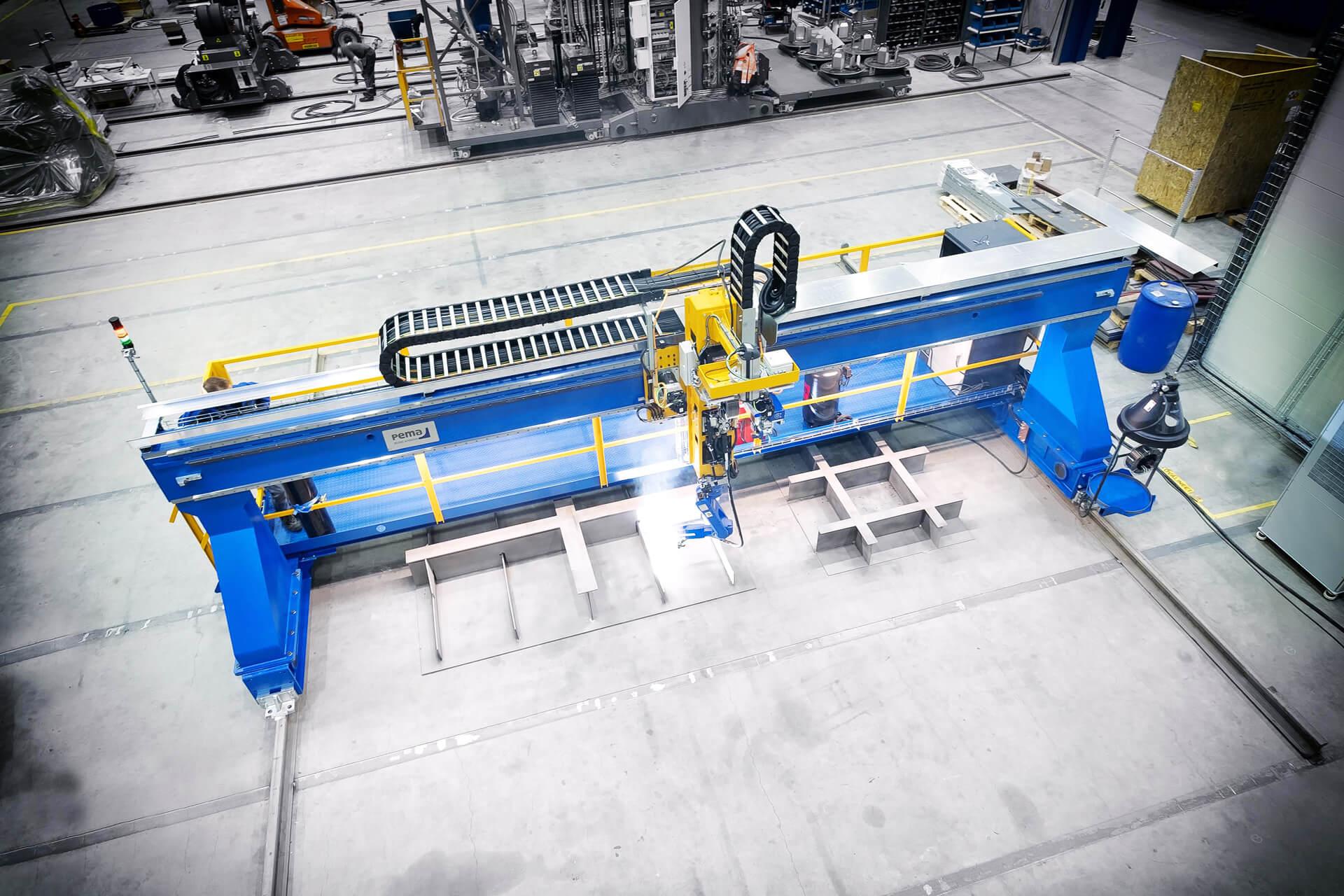 A Pemamek PEMA Weldcontrol 200 welding robot