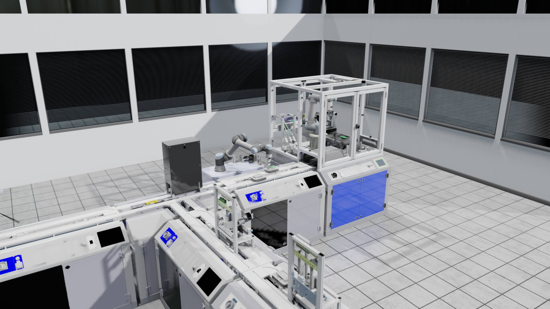 Visual Components simulation of a production line