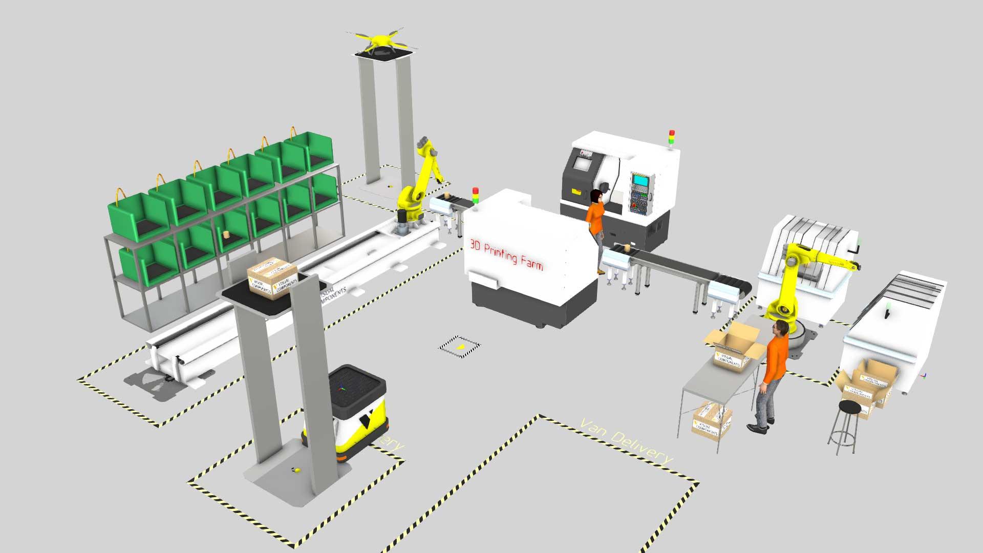 A 3D printing farm