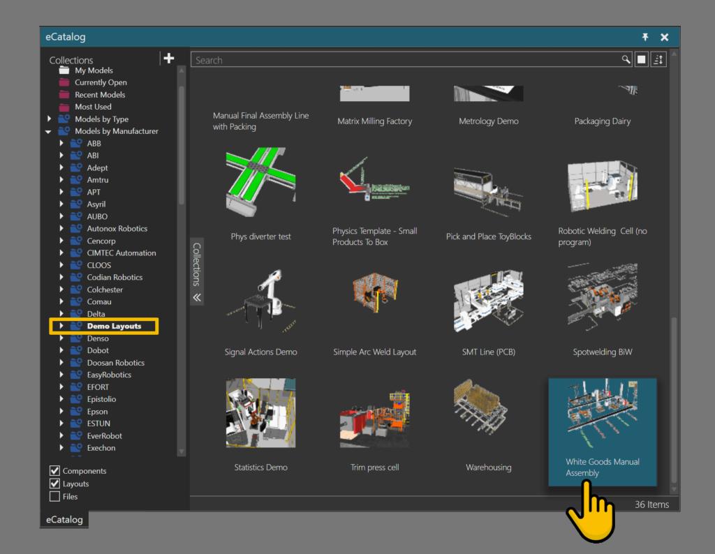 Visual Components eCatalog menu