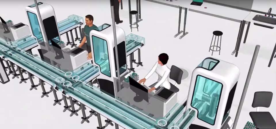 3d simulation in laboratory design visual components for Simulatore 3d