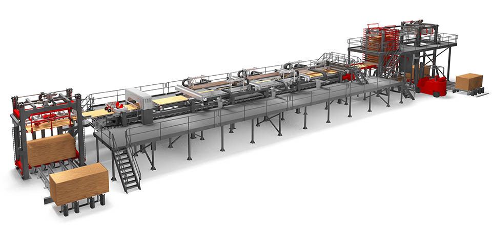 Simulation model of a production line