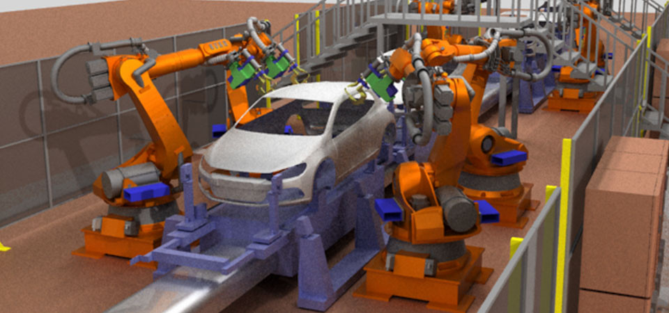 Simulation production line for cars
