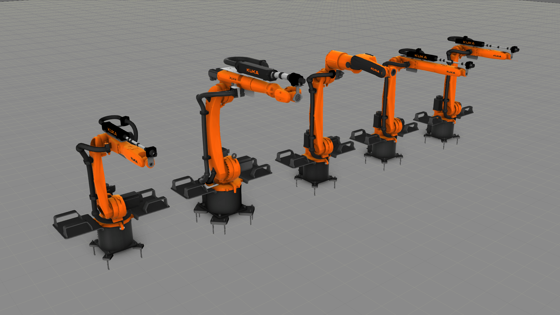 Collection of new Kuka robots in eCatalog