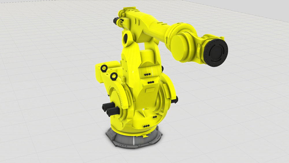 The new Fanuc component addition to Visual Components eCatalog in November 2017