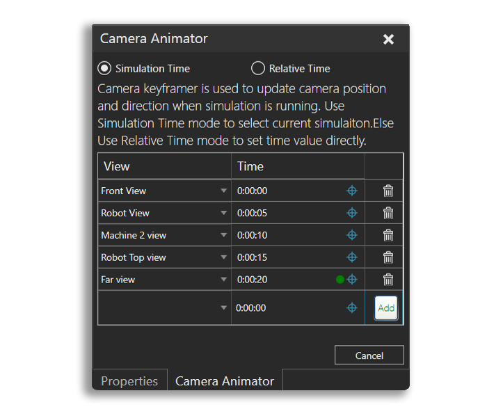Camera Animator in Visual Components 4.1
