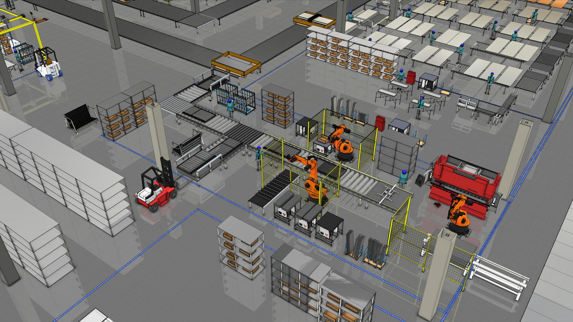 Layout of a manufacturing plant