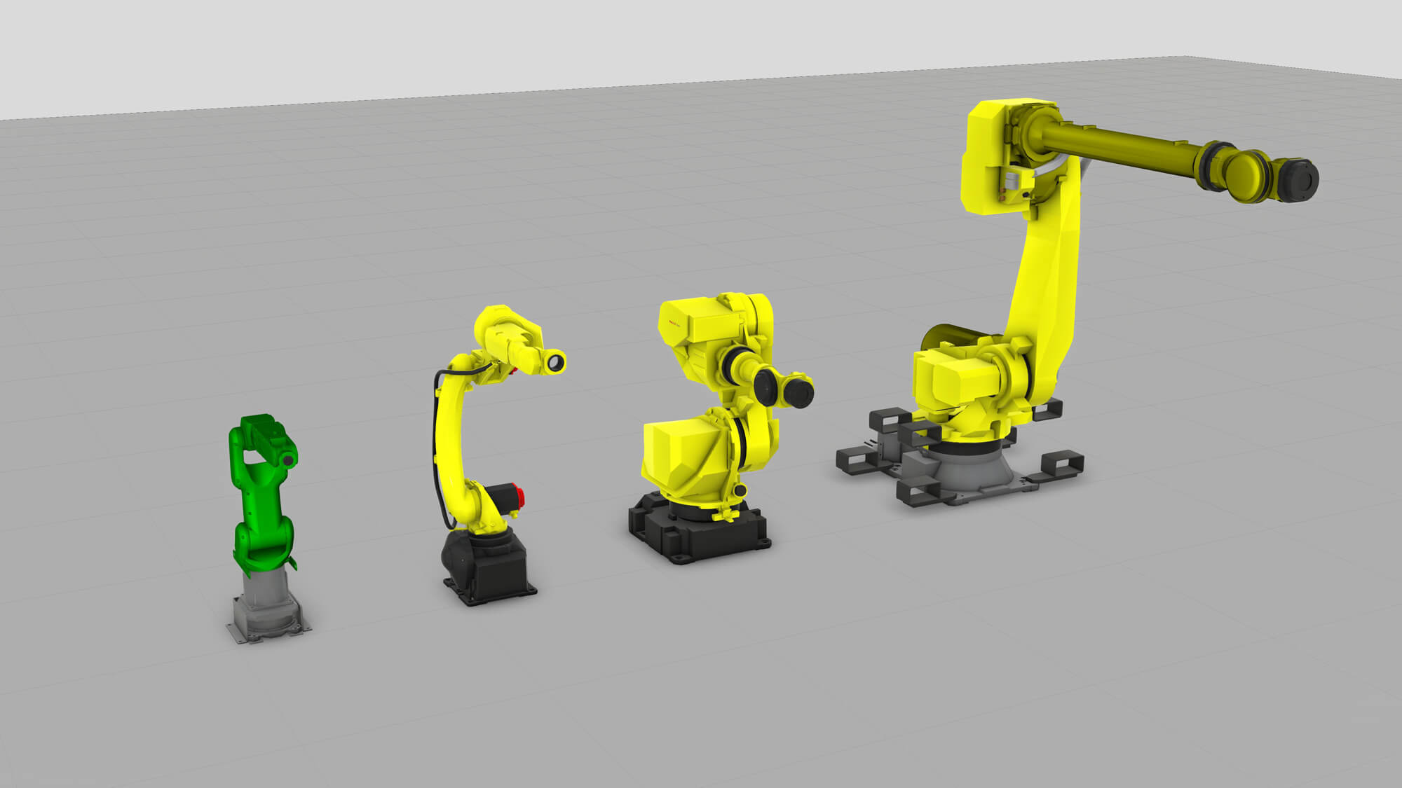 The new Fanuc component additions to Visual Components eCatalog in April 2018