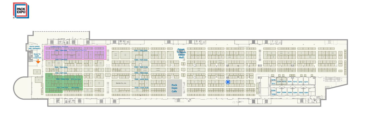 Pack Expo 2019 stand map
