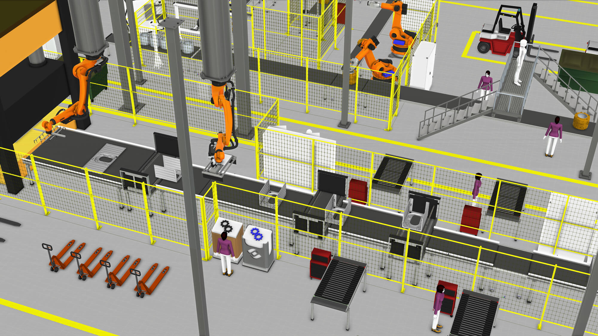 Simulation of a Midea box assembly line