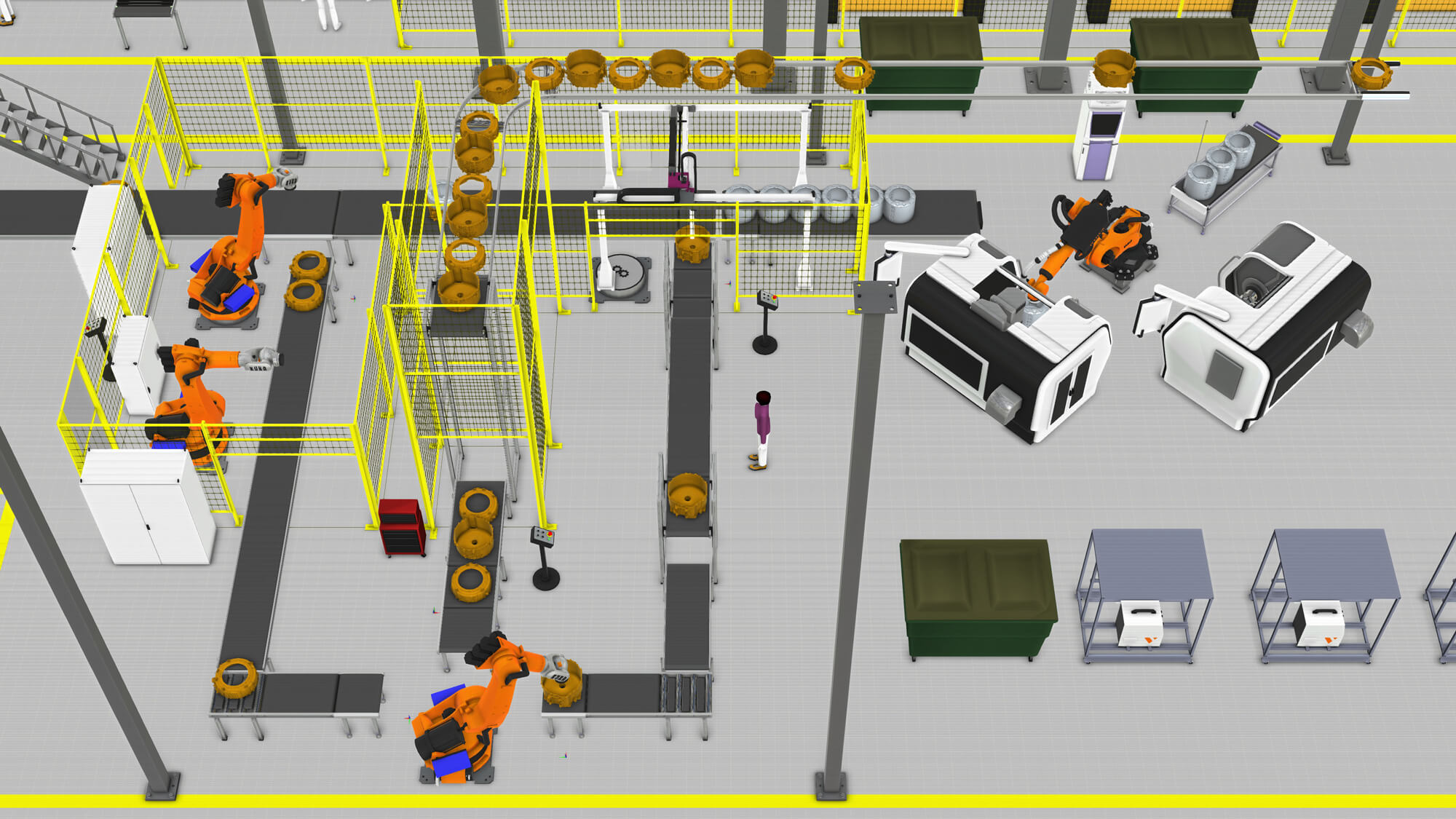 Simulation of a Midea tub assembly line