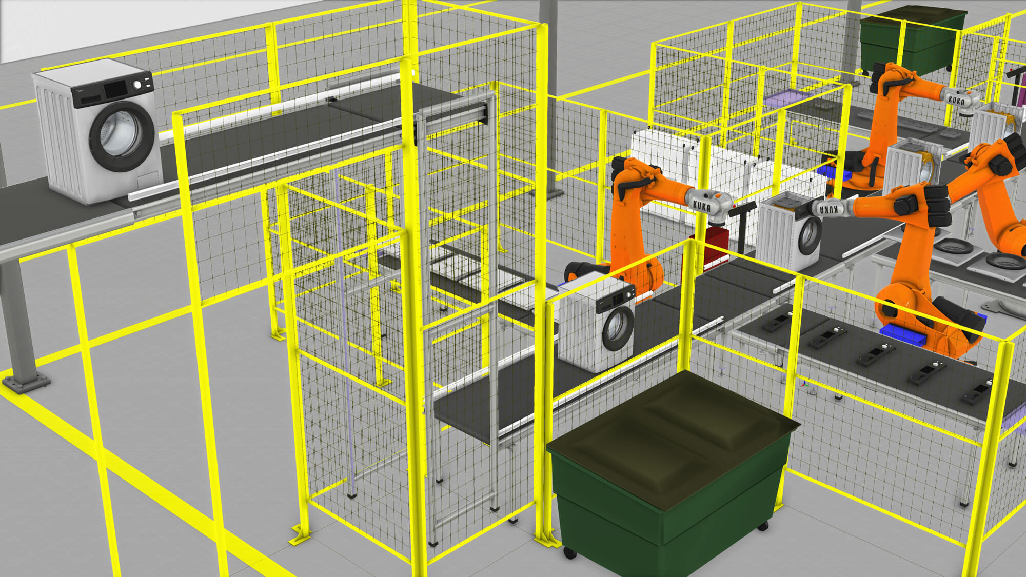 Simulation of a Midea washing machine assembly line