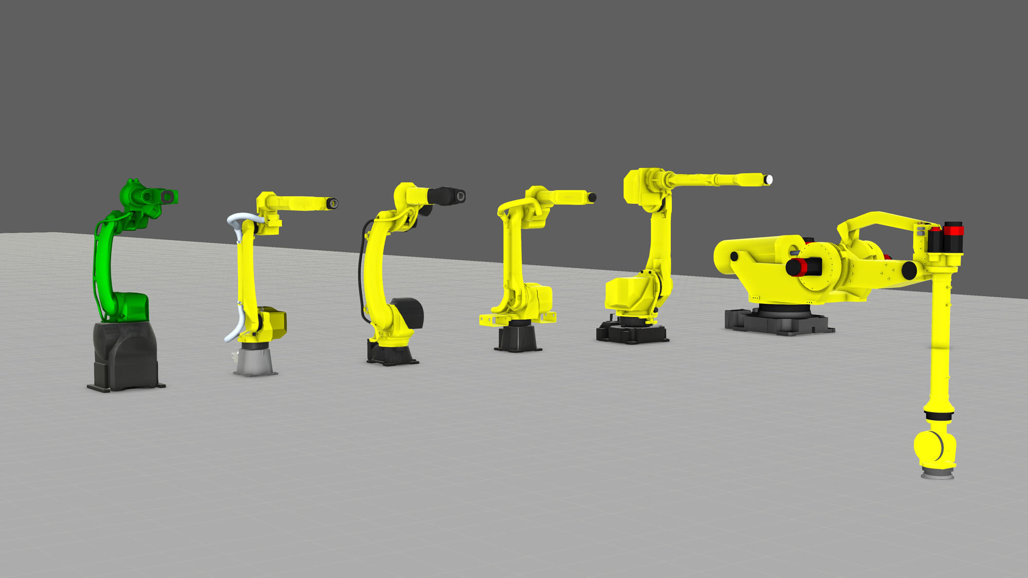 The new Fanuc component additions to Visual Components eCatalog in August 2019