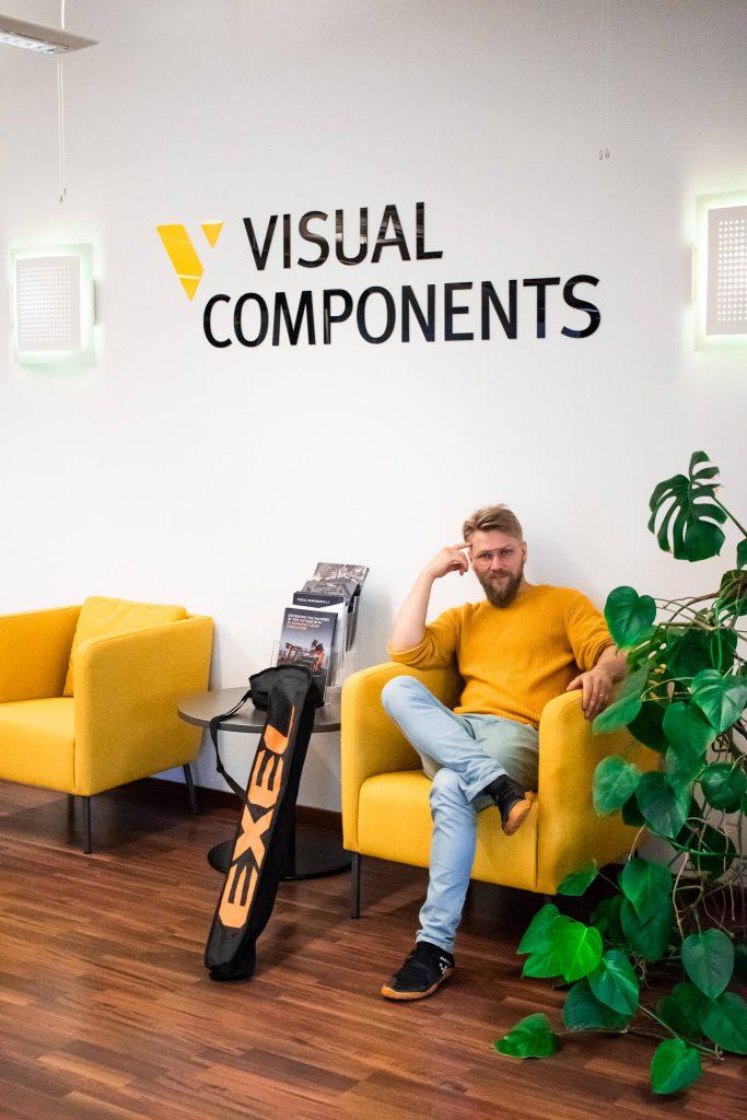 Henrik sitting in VC corner