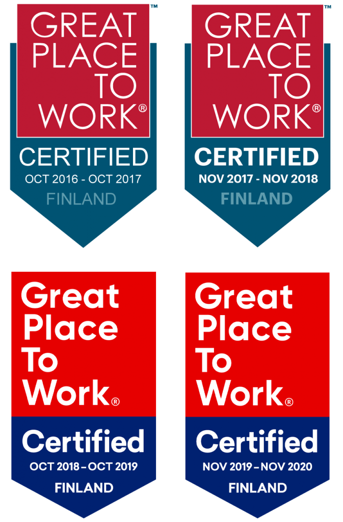 Great Place To Work 2016-2020
