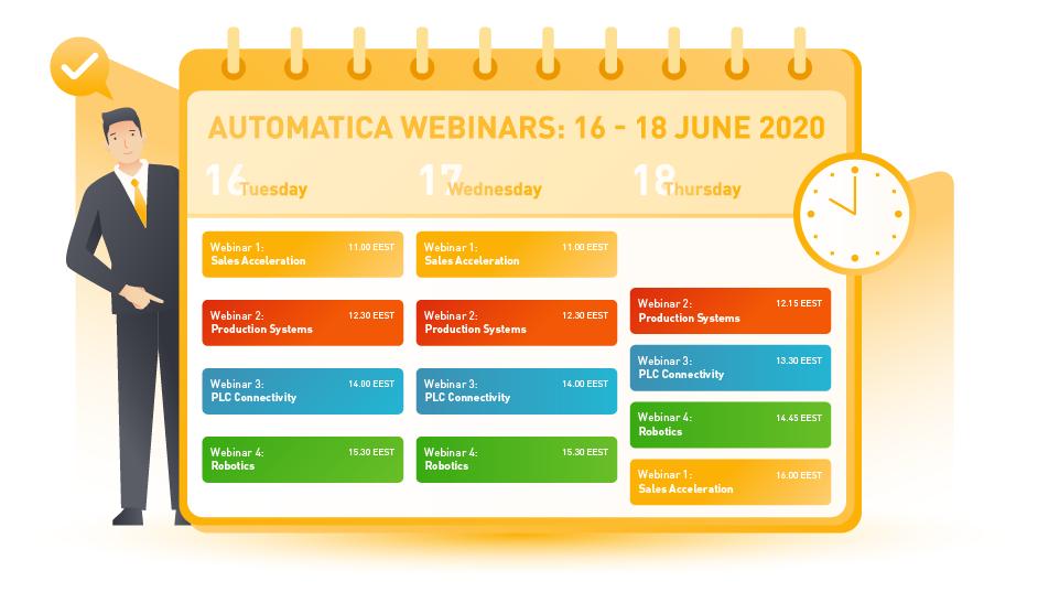 Automatica Webinars Calendar