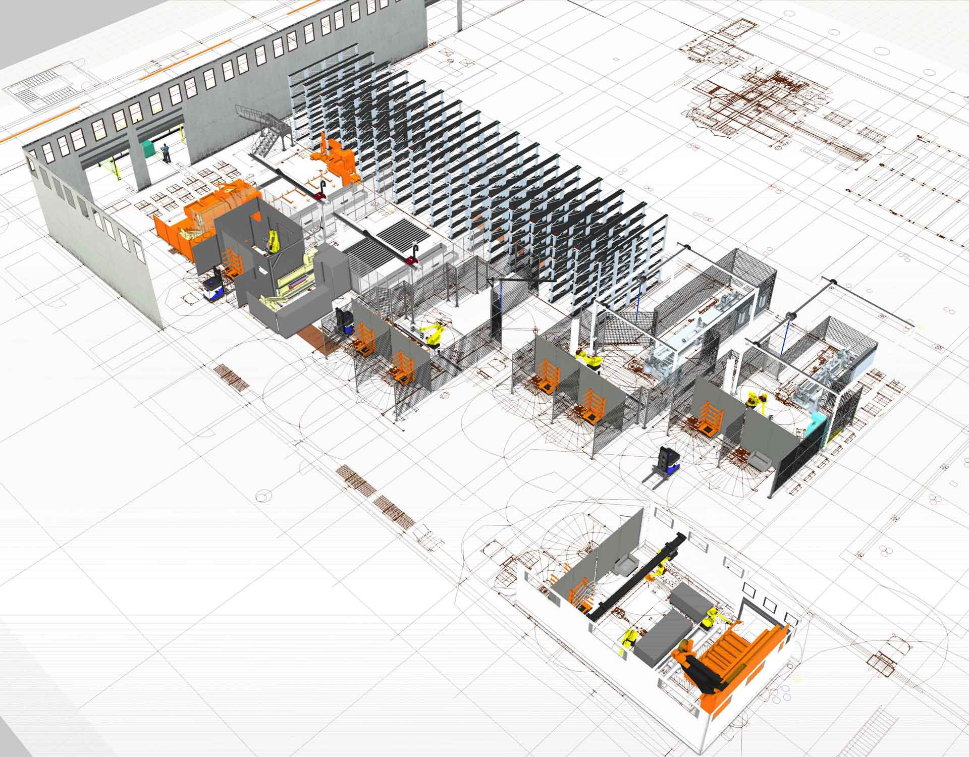 A Visual Components simulation of an AGCO factory