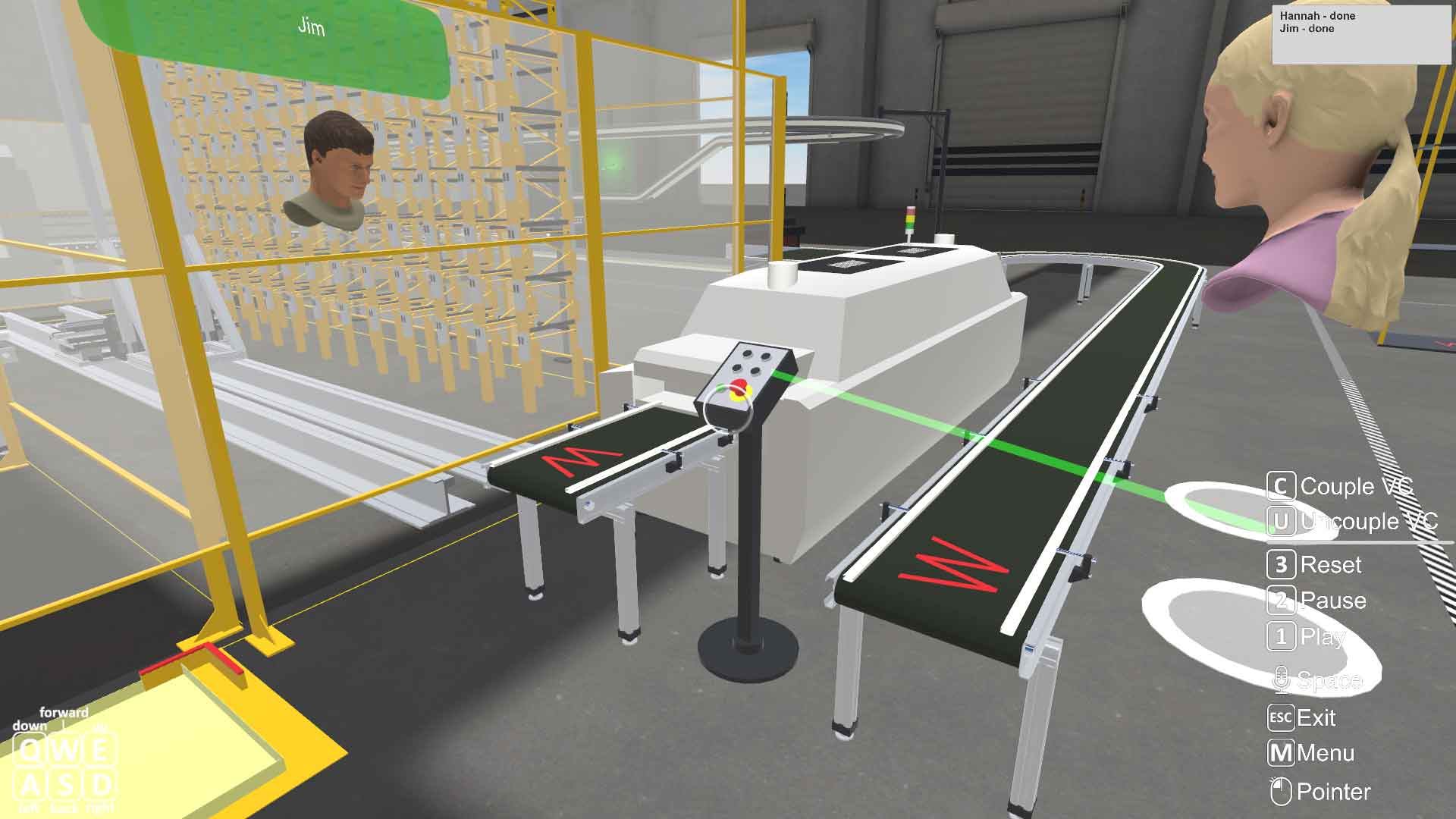 two experts using STAGE 3D conferencing platform to advance a project